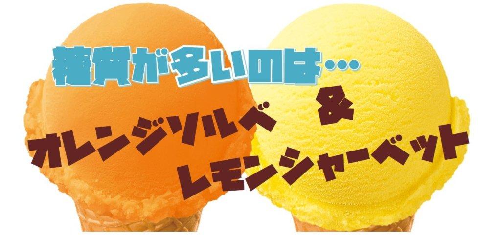 オレンジソルベとレモンシャーベット